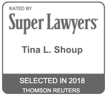 Super Lawyers Badge for Tina L. Shoup